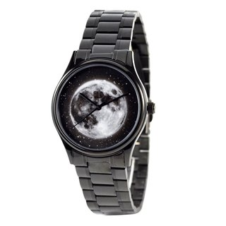 Moon Watch with Star black case with metal band - Free shipping worldwide