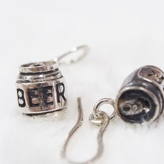 [925] doll Xia Bomi Silver ear hook and silver beer cans perfume vaporizer, but also allows hands holding flaming