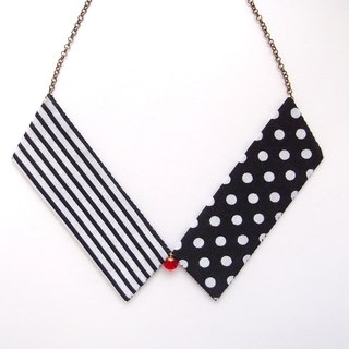 Collar Necklace| Black & White| Dots & Stripes