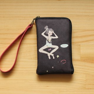 Over the stars night Moonless Starry Night illustration phone bag l Phone 4/5