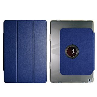 Optima iPad 2018/17 360 flat case protective shell linen blue