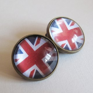 Round ear clip ear acupuncture - British flag