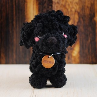 12 ~ 15cm pet avatar (feiwa Fei baby hand] black VIP pet key ring pet doll (welcome to order your dog)