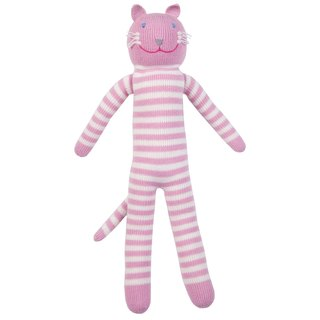 American Blabla Kids | Cotton Knitting Doll (Big Only) - Pink Striped Cat B21050030