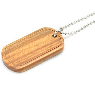 Wooden Military Dog-tag [Vera wood]