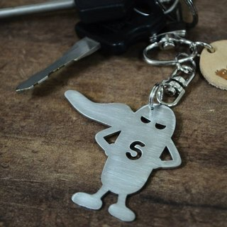 "【Peej】""Super' Man' Stainless Steel Keychain"