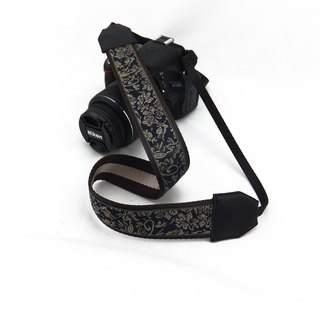 Camera strap can print personalized custom leather stitching national wind embroidery pattern 003