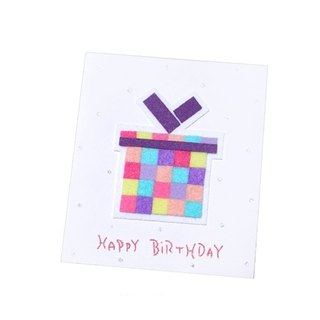 Handmade Card _ Mosaic Gift Box Birthday Card B ..... Birthday Card, Thank You Card
