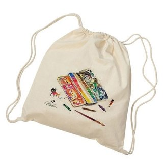 Canvas drawstring backpack-Travel palette
