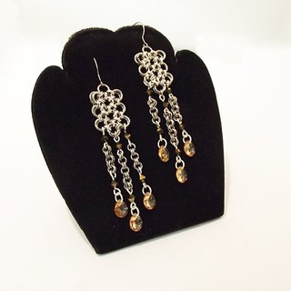 [Mrs.U silk Tibetan honey] gorgeous dance party - earrings