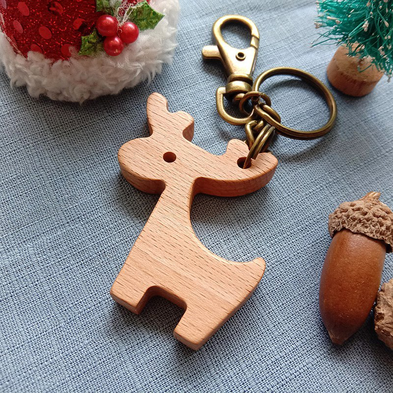 [Christmas gift] key ring │ Christmas elk