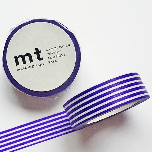 mt and paper tape Deco 【horizontal stripes - dark blue (MT01D254)】 finished product / out of print