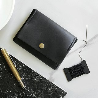 [ADOLE] leather hand made DIY set - coin purse - black