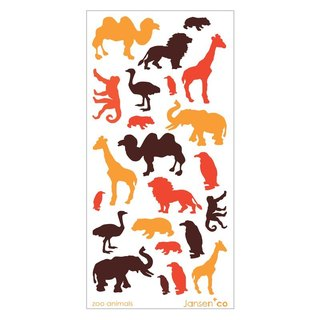 Jansen+co Ceramic Transfer Sticker - Animal Carnival