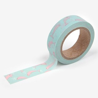 Dailylike-Single roll of paper tape 32-pink dolphin, E2D20691