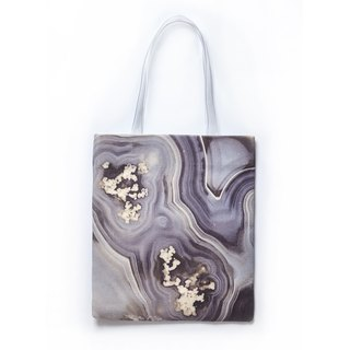 HARD SWIRLS Grey Stone Tote