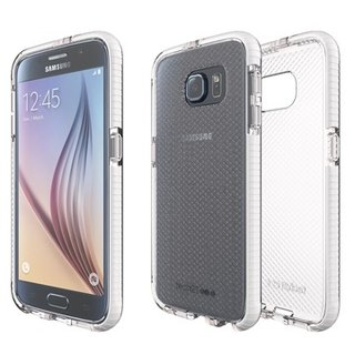 UK Tech 21 Impact Evo Check Samsung S6 super soft crash Plaid Case - White (5055517343695)