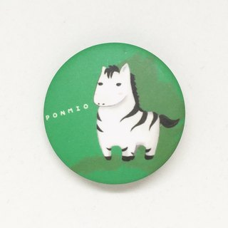 Plains Zebra animal badge 32mm longer version sold out