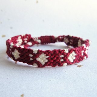 Footprint lucky rope woven bracelet (optional color)