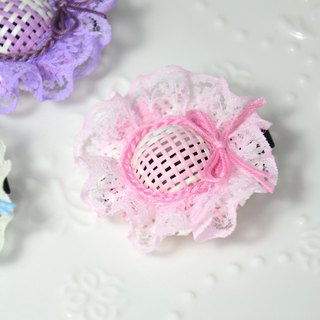 Lace small hat hairpin