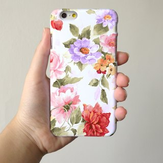 Pink Rose pattern 3D Full Wrap Phone Case, available for  iPhone 7, iPhone 7 Plus, iPhone 6s, iPhone 6s Plus, iPhone 5/5s, iPhone 5c, iPhone 4/4s, Samsung Galaxy S7, S7 Edge, S6 Edge Plus, S6, S6 Edge, S5 S4 S3  Samsung Galaxy Note 5, Note 4, Note 3,  Note