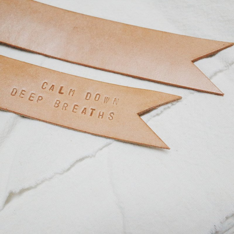 Live and Learn - vegetable tanned leather motto bookmark