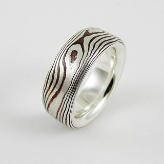 Element 47 Jewelry studio~ mokume gane ring 18  (silver/copper)