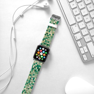 Apple Watch Series 1 , Series 2, Series 3 - Mint teal tile pattern Watch Strap Band for Apple Watch / Apple Watch Sport - 38 mm / 42 mm avilable