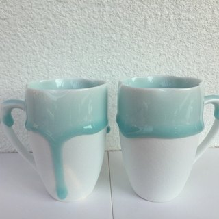 Marriage Blessing Series - Baby Blue in Melting - Ceramic to Cup 2 Pieces - 220ml Trumpet
