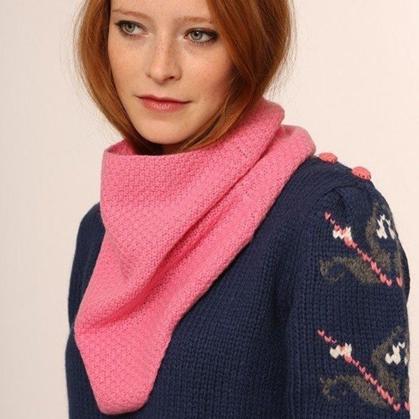 Cashmere Snood- Bubblegum