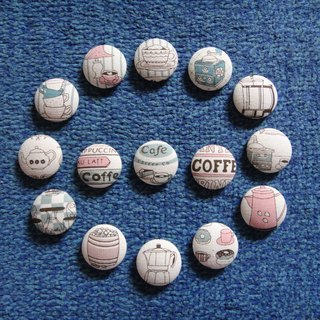 (C) coffee time _ cloth button big badge C54DVY46