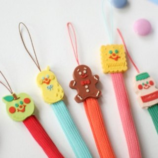 Korea [Afrocat] yummy friends tie Apple Jay Cookies Delicious Dessert Mobile Phone Decoration / Charm / Straps