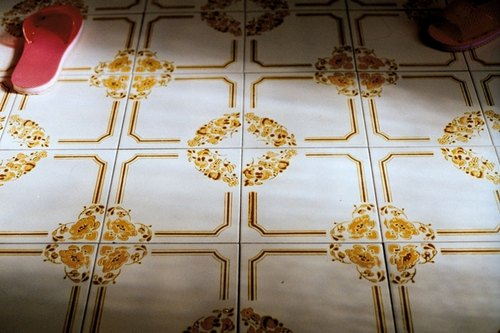 Film Photography Postcard - Light Series - The Tiles at Grandma's House