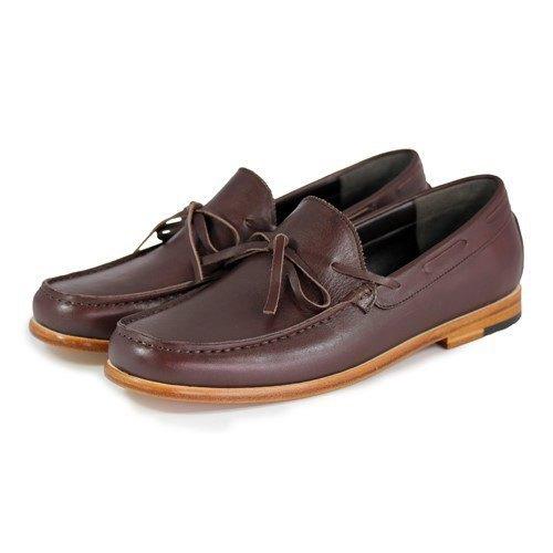 Sweet Villians M1122 手工真皮素面樂福鞋 咖啡色
