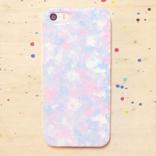 French ice cream series ll ll mix and match pink sky blue hand-painted oil painting style Phone Case
