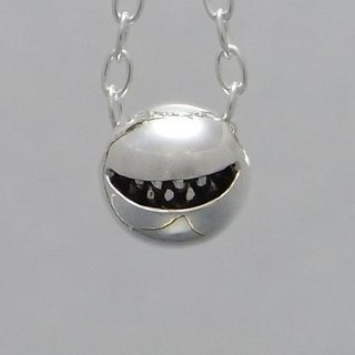 "smile jewelry necklace pendant sterling silver ball "" smile ball pendant S 【type:B】"" s_m-P.07 ( 微笑 兽 牙 銀 垂饰 颈链 项链 )"