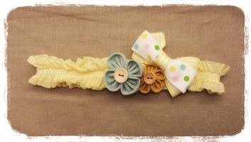 Sunflower Handmade baby girls headwear
