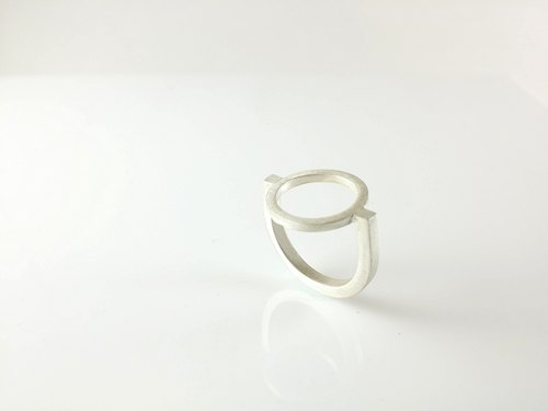 Sterling silver rings, Architectural Series Architecture collection ATR001 manual silver