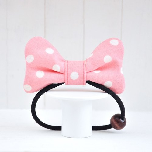 Cute little Minnie series - pink little soft Q cloth butterfly hair bundle
