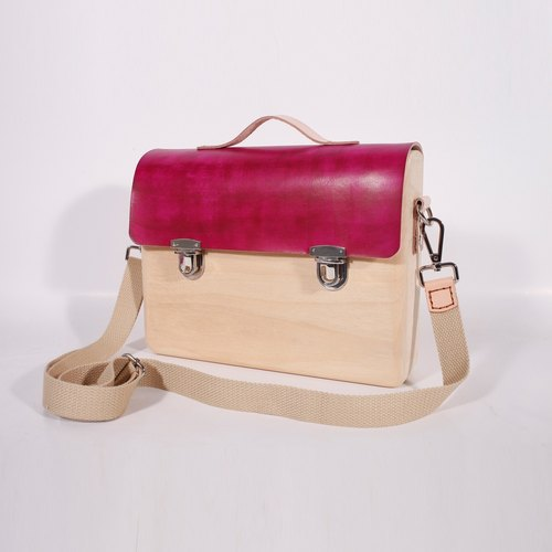 Wooden Business Tote Mini (Rose Red)