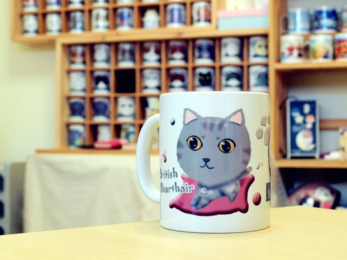 """NONCOOL‧ Cool farming"" British Shorthair. Mug / straight cup (300ml)"