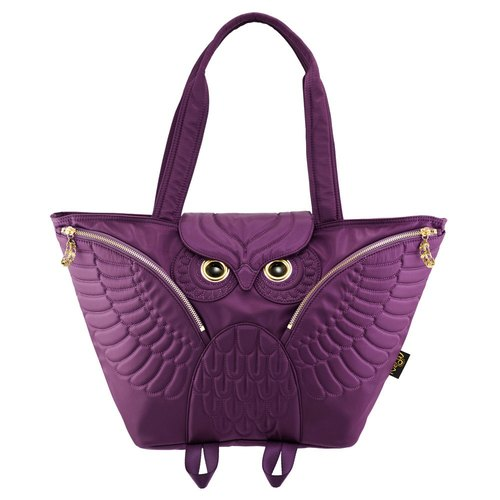 Morn Creations genuine Owl Tote (available when mom pack) - Purple (OW-401-PP)