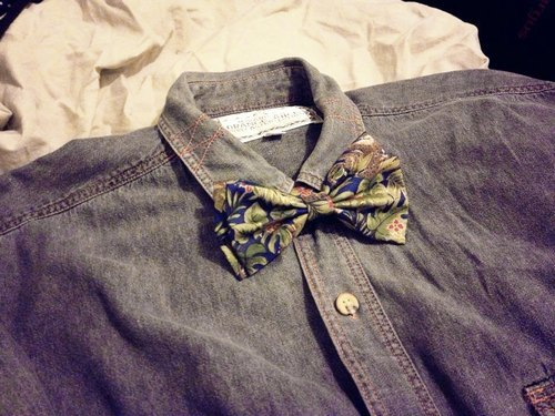 [Endorphin] hand-stitched double bow tie (Lost in the jungle)