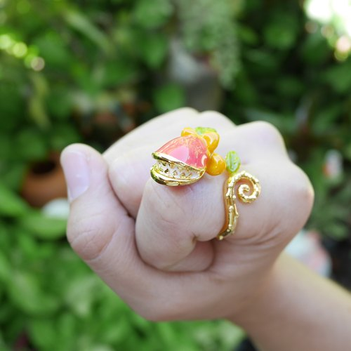 Glorikami Dark Pink Wonder Flower Ring