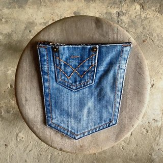 ►Pocket Design- are limited each, unique denim pocket bag - special small lateral pocket money