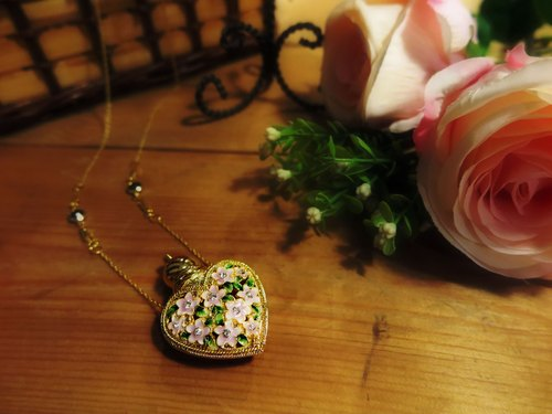 Neve Jewelry Purple Heart Perfume Bottle Necklace