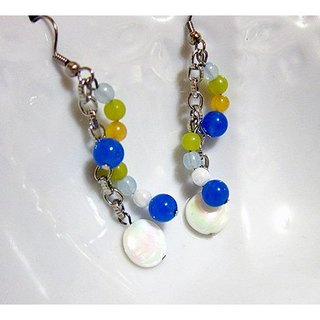Irregular pop style earrings