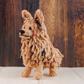 12cm pet cloned [feiwa Fei handmade doll pet doll] Meeks (Welcome to order your dog)