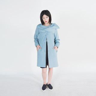 Evelyn Bow Tie Wool Coat