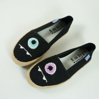 L-zako Handmade Casual Lazy Slippers Eyeball Eyeball* (Weave)
